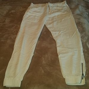 Matty white  pants